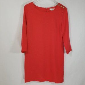 Forever 21 Essentials Knee Length Fiery Red Dress